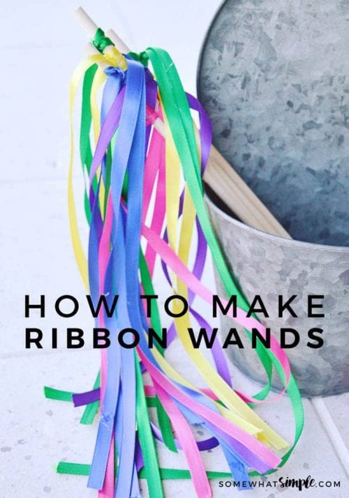 30 Fun Spring Break Crafts you can Make with Children featured by top US craft blog, The Crafty Blog Stalker: Ribbon Wands