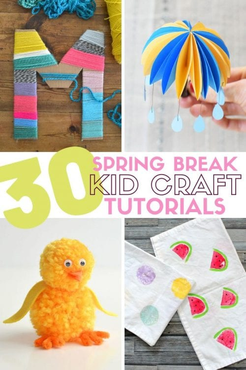 30 Fun Spring Break Crafts you can Make with Children featured by top US craft blog, The Crafty Blog Stalker.