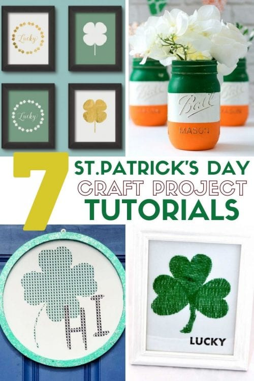 7 Easy Irish Crafts for St. Patrick's Day featured by top US craft blog, The Crafty Blog Stalker.