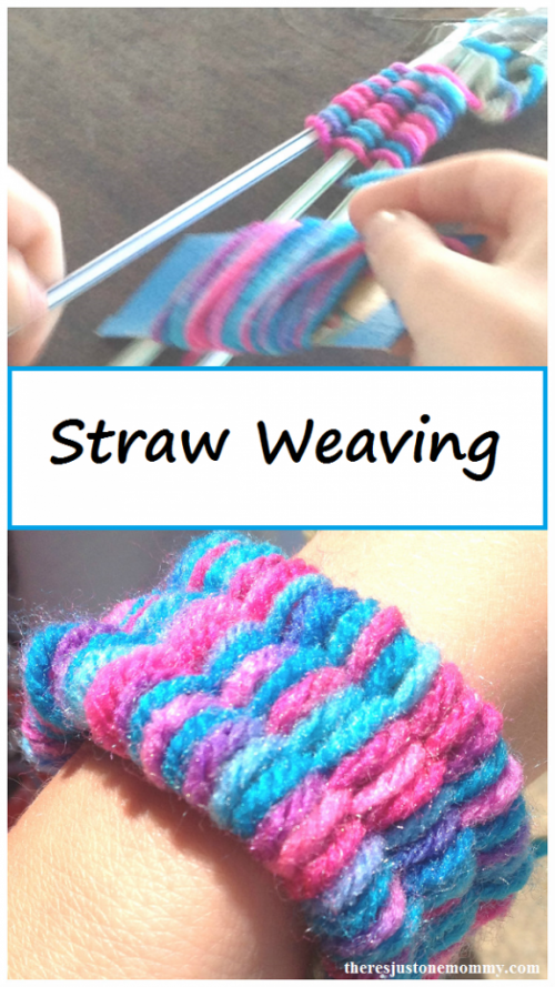 30 Fun Spring Break Crafts you can Make with Children featured by top US craft blog, The Crafty Blog Stalker: Colorful Bracelet with Soda Straw Weaving