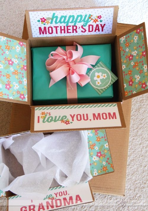 20 Easy Handmade Gifts for Mom on Mother's Day, featured by top US craft blog, The Crafty Blog Stalker: Mother's Day Care Package Printables