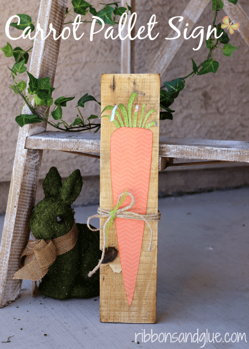 20 Fun DIY Easter Decor Ideas featured by top US craft blog, The Crafty Blog Stalker: Spring Carrot Sign