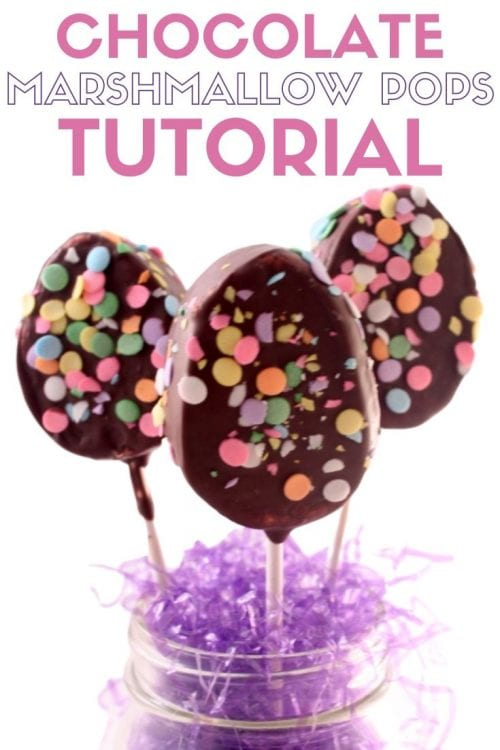 How to Make Chocolate Covered Marshmallow Pops, a tutorial featured by top US craft blog, The Crafty Blog Stalker.