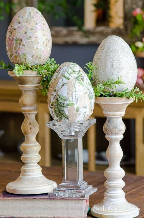 20 Fun DIY Easter Decor Ideas featured by top US craft blog, The Crafty Blog Stalker: Decoupage Eater Eggs