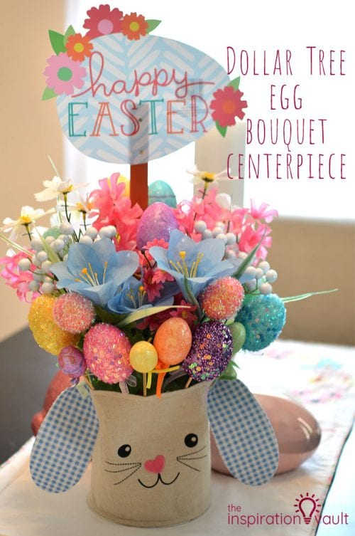 Twelve Fun Easter Crafts featured by top US craft blog, The Crafty Blog Stalker: Easter Egg Bouquet Centerpiece