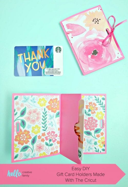 20 Easy Handmade Gifts for Mom on Mother's Day, featured by top US craft blog, The Crafty Blog Stalker: Easy Gift Card Holders