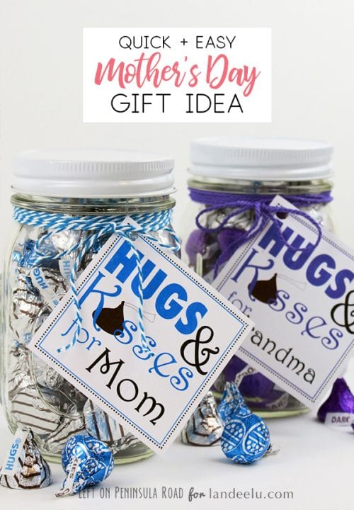 20 Easy Handmade Gifts for Mom on Mother's Day, featured by top US craft blog, The Crafty Blog Stalker: Hugs and Kisses for Mom
