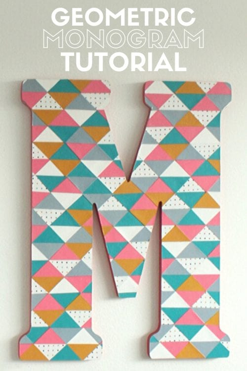 How to Make a Geometric Monogram Letter, a tutorial featured by top US craft blog, The Crafty Blog Stalker.