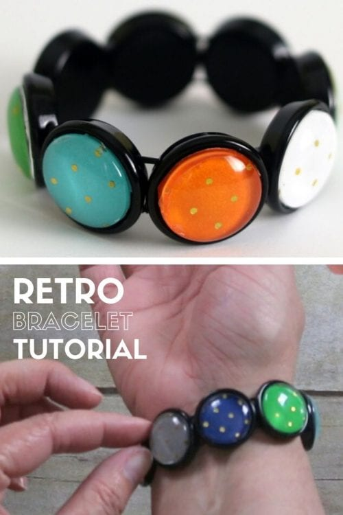 How to Make a Handmade Retro Bracelet, a jewelry tutorial featured by top US craft blog, The Crafty Blog Stalker.