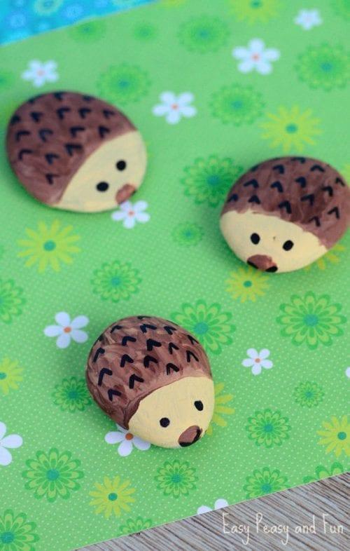 Hedgehog Painted Rocks