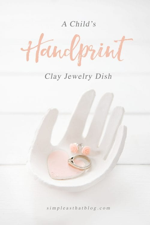 20 Easy Handmade Gifts for Mom on Mother's Day, featured by top US craft blog, The Crafty Blog Stalker: Handprint Clay Jewelry Dish