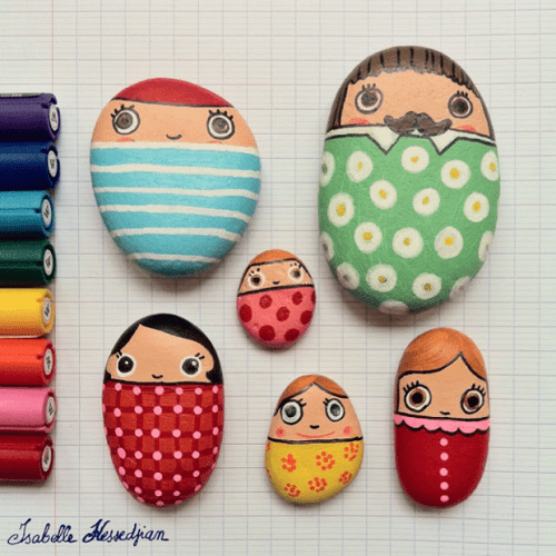 20 of the Best Painted Rock Art Ideas, You Can Do! featured by top US craft blog, The Crafty Blog Stalker: The Easiest Painted Rocks Ever