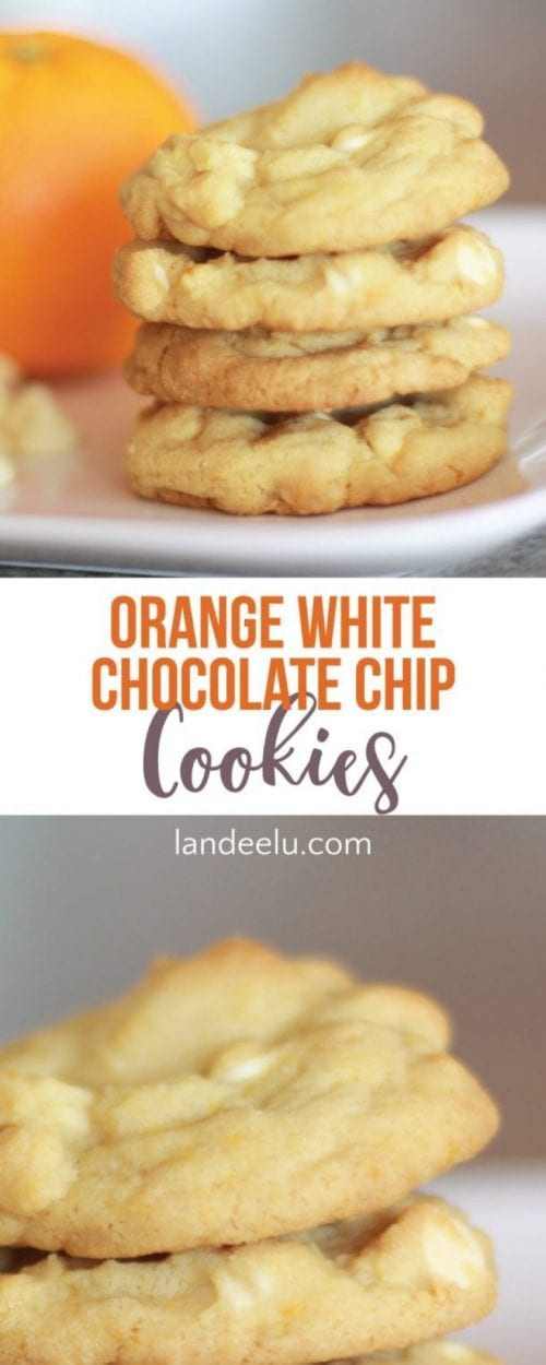 20 White Chocolate Recipes You Need To Try featured by top US craft blog, The Crafty Blog Stalker: Orange White Chocolate Chip Cookies