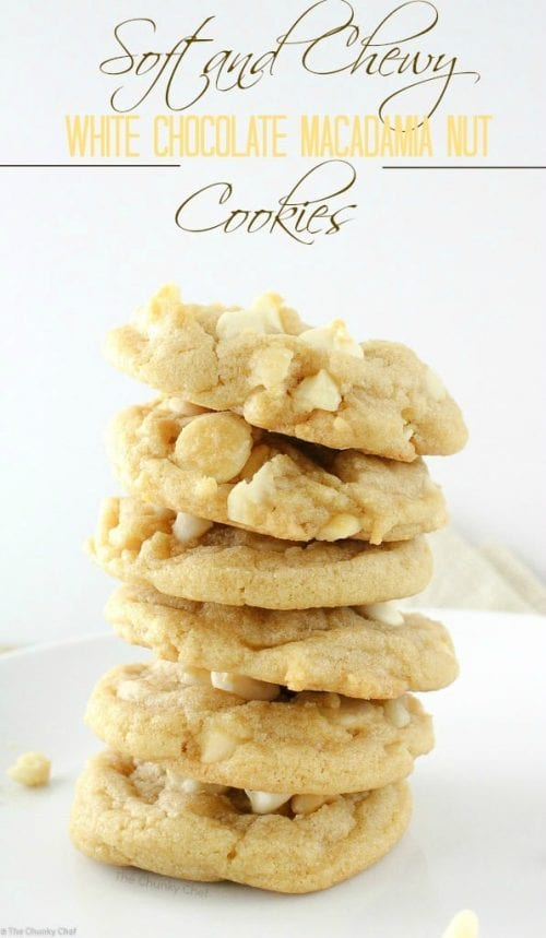 20 White Chocolate Recipes You Need To Try featured by top US craft blog, The Crafty Blog Stalker: White Chocolate Macadamia Nut Cookies