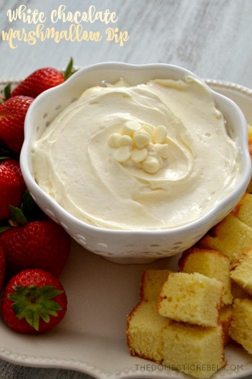 20 White Chocolate Recipes You Need To Try featured by top US craft blog, The Crafty Blog Stalker: White Chocolate Marshmallow Dip