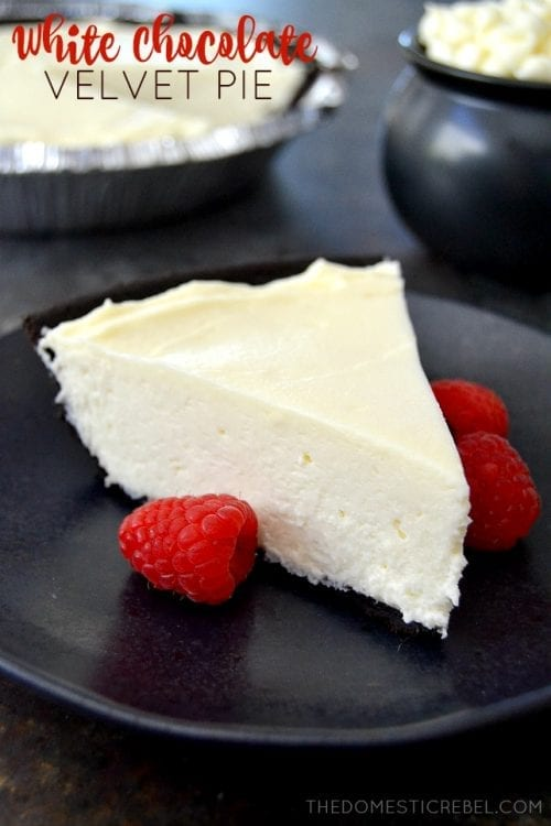 20 White Chocolate Recipes You Need To Try featured by top US craft blog, The Crafty Blog Stalker: White Chocolate Velvet Pie