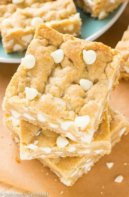 20 White Chocolate Recipes You Need To Try featured by top US craft blog, The Crafty Blog Stalker: White Chocolate Blondies
