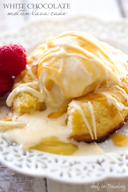 20 White Chocolate Recipes You Need To Try featured by top US craft blog, The Crafty Blog Stalker: White Chocolate Molten Lava Cake
