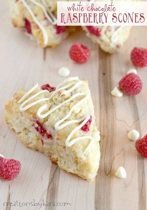 20 White Chocolate Recipes You Need To Try featured by top US craft blog, The Crafty Blog Stalker: White Chocolate Raspberry Scones