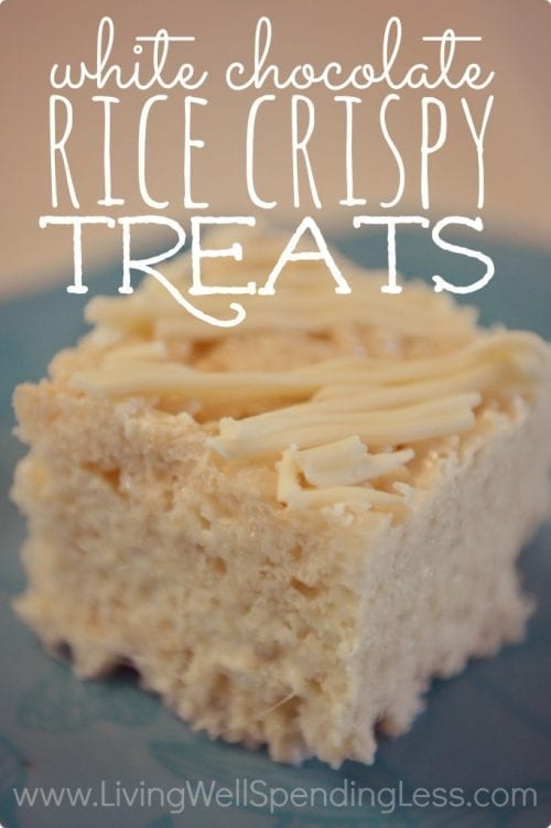 20 White Chocolate Recipes You Need To Try featured by top US craft blog, The Crafty Blog Stalker: White Chocolate Rice Crispy Treats