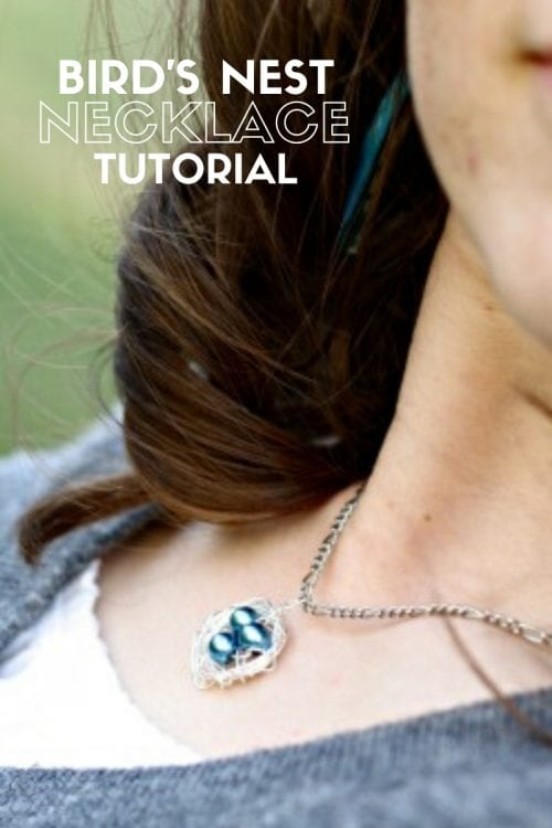 How to Make a Bird's Nest Necklace, a tutorial featured by top US craft blog, The Crafty Blog Stalker.