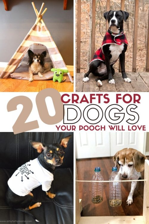 20 DIY Crafts for Dogs featured by top US craft blog, The Crafty Blog Stalker.