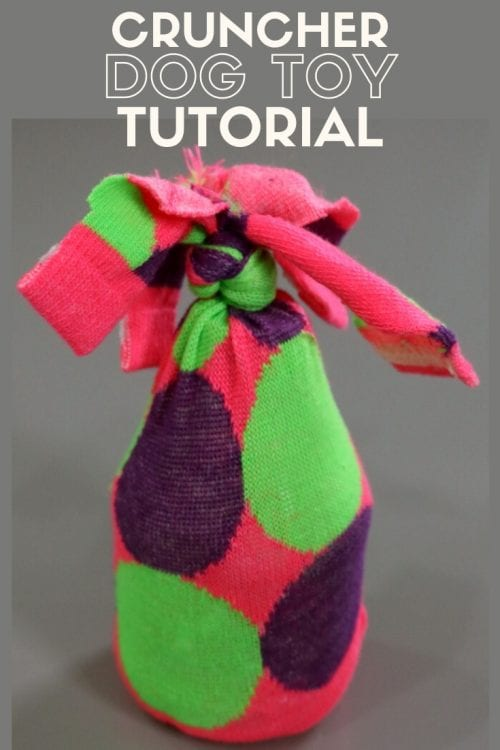 How to Make an Empty Water Bottle Dog Toy Cruncher, a tutorial featured by top US craft blog, The Crafty Blog Stalker.