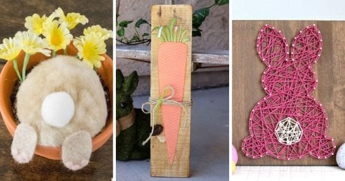 20 Fun DIY Easter Decor Ideas featured by top US craft blog, The Crafty Blog Stalker.