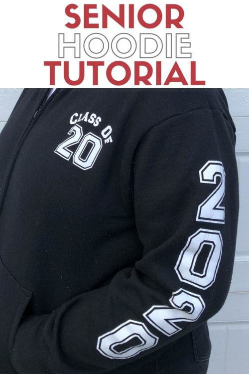 How to Make a DIY Senior Hoodie, a Cricut tutorial featured by top US craft blog, The Crafty Blog Stalker.