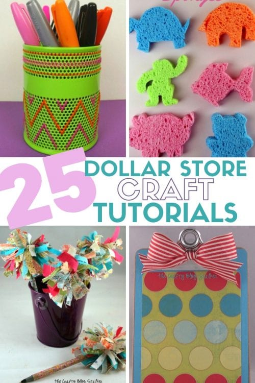 25 Easy Dollar Store Craft Ideas for Adults featured by top US craft blog, The Crafty Blog Stalker.