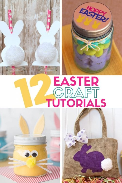 Twelve Fun Easter Crafts featured by top US craft blog, The Crafty Blog Stalker.