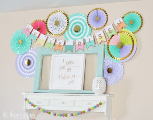 20 Fun DIY Easter Decor Ideas featured by top US craft blog, The Crafty Blog Stalker: He is Risen Easter Banner