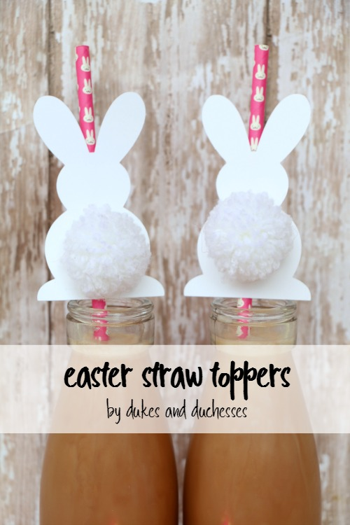 Twelve Fun Easter Crafts featured by top US craft blog, The Crafty Blog Stalker: Easter Straw Toppers