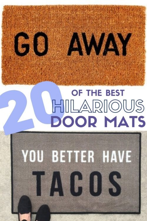 The Best Funny Front Door Mats on Amazon, featured by top US craft blog, The Crafty Blog Stalker.