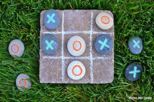 20 of the Best Painted Rock Art Ideas, You Can Do! featured by top US craft blog, The Crafty Blog Stalker: Garden Tic Tac Toe