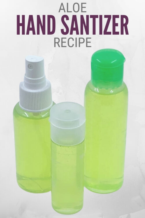 title image for How to Make a Hand Sanitizer Recipe with Aloe