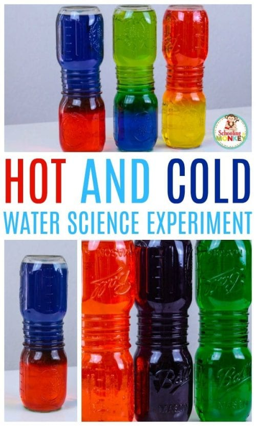 20 Fun Science Crafts for Kids you can Make at Home, featured by top US craft blog, The Crafty Blog Stalker: Hot and Cold Water Science Experiment