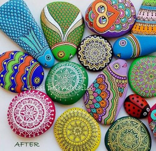 20 of the Best Painted Rock Art Ideas, You Can Do! featured by top US craft blog, The Crafty Blog Stalker: How to Make Painted Rocks