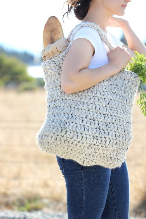 20 Easy Handmade Gifts for Mom on Mother's Day, featured by top US craft blog, The Crafty Blog Stalker: Sturdy Market Tote Free Crochet Pattern