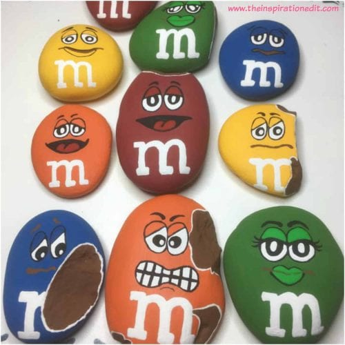 20 of the Best Painted Rock Art Ideas, You Can Do! featured by top US craft blog, The Crafty Blog Stalker: M&M Painted Rocks