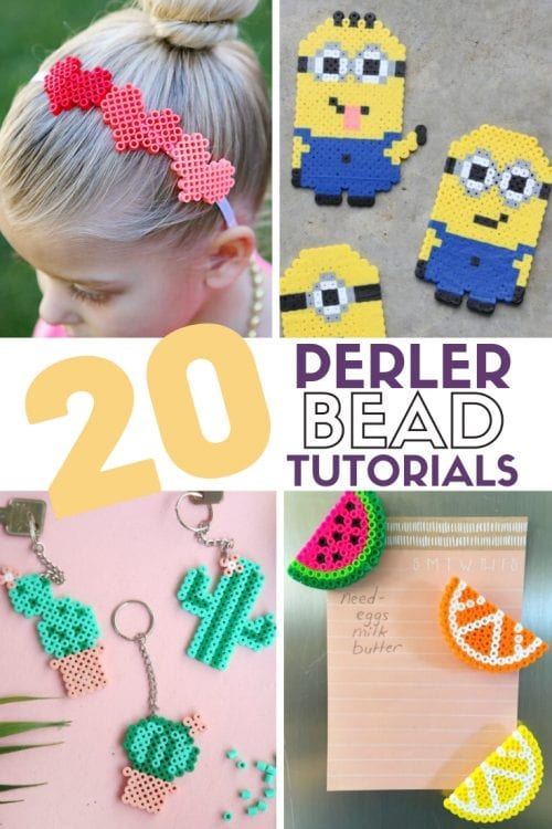 20 Fun Free Patterns for Perler Bead Crafts featured by top US craft blog, The Crafty Blog Stalker.