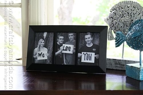 20 Easy Handmade Gifts for Mom on Mother's Day, featured by top US craft blog, The Crafty Blog Stalker: We Love you Photo Frame