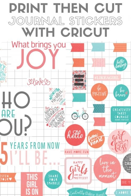 Free Printable Stickers for Your Planner with Cricut Print then Cut, a Cricut tutorial featured by top US craft blog, The Crafty Blog Stalker.