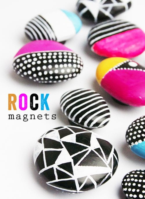 20 of the Best Painted Rock Art Ideas, You Can Do! featured by top US craft blog, The Crafty Blog Stalker: Rock Magnets