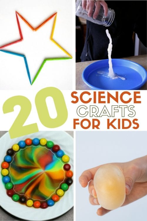20 Fun Science Crafts for Kids you can Make at Home, featured by top US craft blog, The Crafty Blog Stalker.