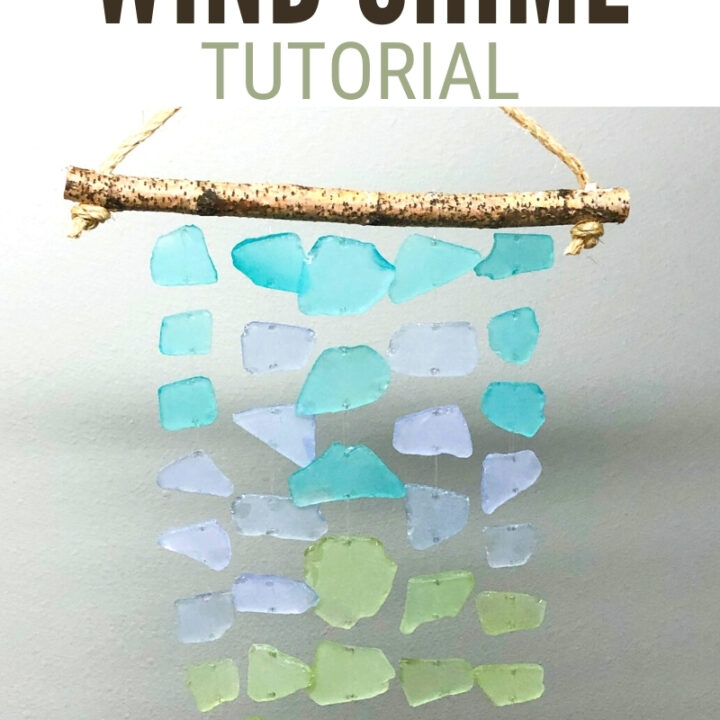 How To Make Sea Glass Wind Chimes, Sea Glass Wind Chimes Diy