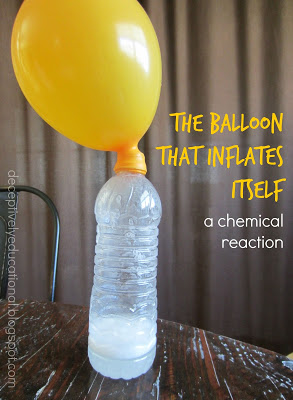 20 Fun Science Crafts for Kids you can Make at Home, featured by top US craft blog, The Crafty Blog Stalker: A Balloon that Inflates Itself