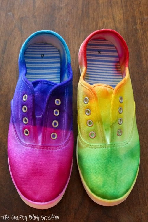 Sharpie Tie Dyed Shoes