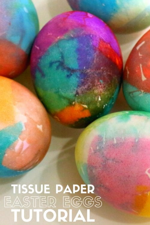 How to Dye Easter Eggs with Tissue Paper, a tutorial featured by top US craft blog, The Crafty Blog Stalker.