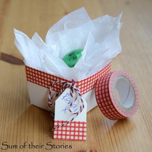 Twelve Fun Easter Crafts featured by top US craft blog, The Crafty Blog Stalker: Washi Tape Berry Boxes